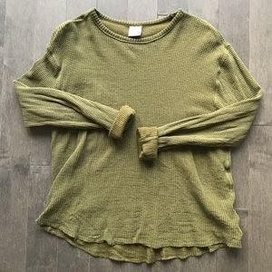 UO thermal waffle knit top